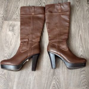 Brown knee high boots Size 9.5